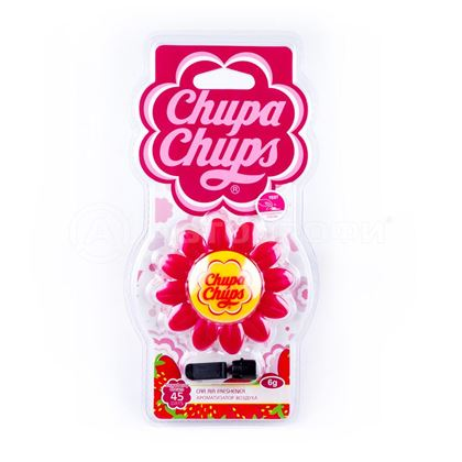 "Изображение Ароматизатор воздуха ""Chupa Chups"" (Strawberry Cream) на дефлектор CHP1802"